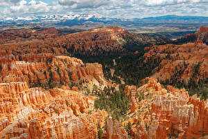 Обои США Парки Утес Каньоны Bryce Canyon National Park Природа