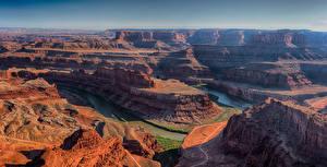 Фотографии Штаты Парк Горы Реки Каньона Dead Horse Point State Park Utah Природа
