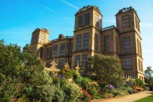 Фотографии Великобритания Дома Дизайн Кустов Hardwick Hall город
