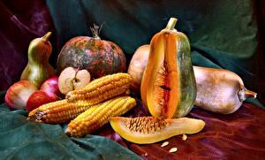 Картинки Овощи Тыква Кукуруза