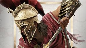 Картинка Assassin's Creed Воин Assassin's Creed Odyssey В шлеме Alexios