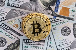 Обои Биткоин Деньги Монеты Доллары