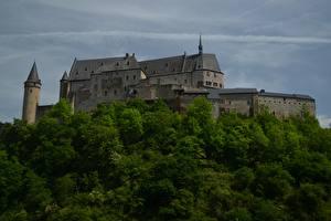 Фотография Замки Люксембург Vianden Castle Города