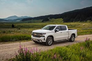 Фотография Chevrolet Пикап кузов Белый 2019 Silverado High Country Crew Cab авто