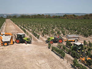 Обои Поля Сельскохозяйственная техника Трактор 2009-17 Claas Nexos 240 F Природа