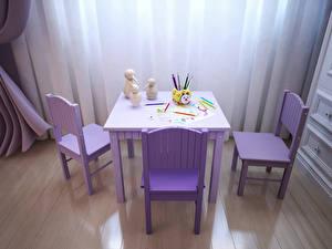 Фотографии Интерьер Детская комната Дизайна Стола Стул Карандаши