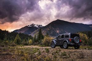 Обои Jeep Сзади 2018 Wrangler Sahara машины