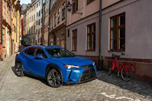 Обои Lexus Голубой Велосипед 2019 UX 250h Автомобили