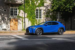Картинки Лексус Голубой Сбоку 2019 UX 250h Авто