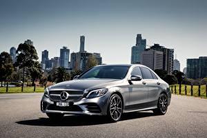 Фото Mercedes-Benz Серебристый AMG C-class W205 Автомобили