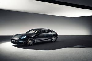 Фото Porsche Черный Panamera Машины