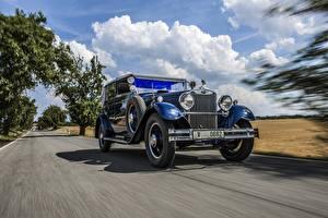 Фото Ретро Skoda Скорость Синий 1932 860 Cabriolet