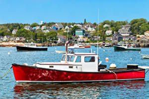 Фотографии Речка Катера Штаты Stonington Maine Города