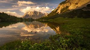 Обои Пейзаж Горы Озеро Отражение Природа