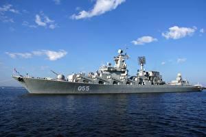 Фото Корабли Российские Slava-class cruiser Project 1164 Atlant военные