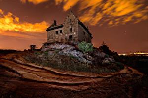 Картинка Испания Дома Вечер Дворца Palace of Canto del Pico Torrelodones город