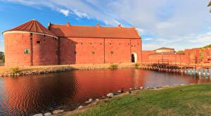 Фотография Швеция Крепость Речка Мосты Landskrona