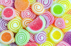 Картинки Текстура Сладости Мармелад Разноцветные Пища