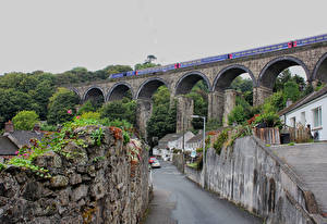 Обои Великобритания Здания Дороги Мост Saint Austell Города
