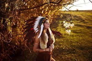 Фото Индейский головной убор Талисман Индейцы Sergey Sorokin Девушки