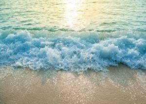Фотография Воде Волны Море С брызгами Природа