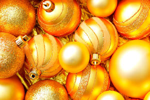 Фото Рождество Шар Золотой