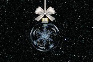 Фотография Новый год Шар Снежинки Бантик