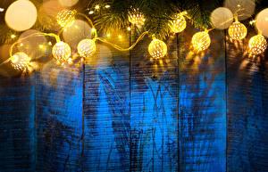 Фотографии Рождество Электрическая гирлянда Шар