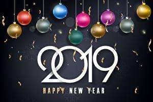 Фото Новый год Шар 2019 Happy New Year