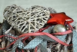 Фотография Рождество Праздники Сердечко Звездочки Шар