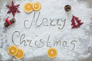 Фотография Новый год Апельсин Сахарная пудра Английский