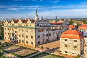 Картинки Чехия Замки Дома Дизайн Litomyšl Castle город