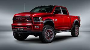 Картинки Додж Красная Пикап кузов 2018 Ram 2500 Apache Customz Trucks Автомобили