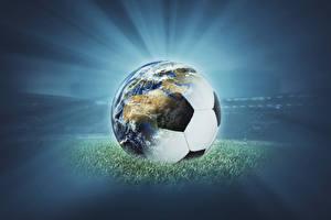 Картинки Футбол Мячик Земли спортивная