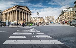 Фото Франция Здания Улица Колонна Париж Города