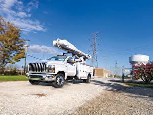 Фото Интернешнл Грузовики Белый Металлик 2018 CV Day Cab Utility Машины