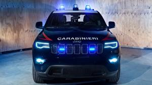 Фотографии Джип Спереди Полицейские 2018 Carabinieri Grand Cherokee Автомобили