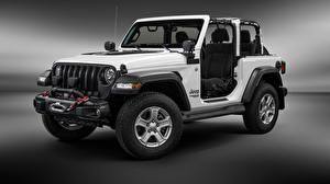 Фотографии Jeep Белый Wrangler Jeep 2019 Машины