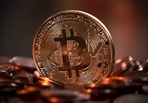 Фотографии Деньги Монеты Крупным планом Bitcoin