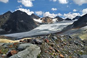 Фотография Горы Камни Австрия Пейзаж Альп Природа