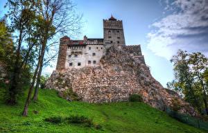 Картинка Румыния Замки Скала Bran Castle