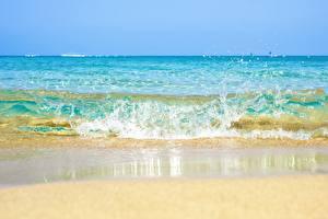 Обои Море Волны Вода Брызги Природа