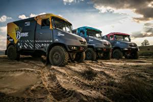 Картинка Грузовики Втроем 2014-17 Tatra Jamal Team Bonver Dakar Project