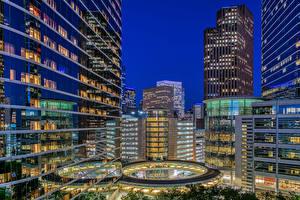 Фото Штаты Здания Вечер Техас Houston