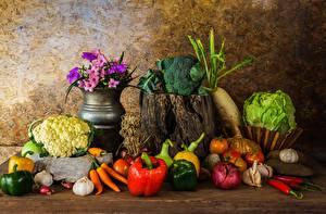 Фотография Овощи Перец Продукты питания
