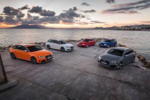 Обои Ауди Много RS2 RS 4 Машины