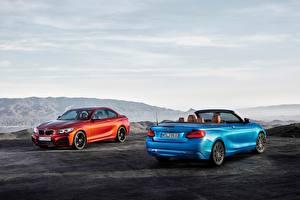 Картинки BMW Вдвоем Кабриолет 2014-17 Serie 2 Машины