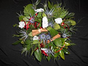 Фото Букеты Анемоны Листва Цветы