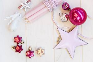 Картинки Свечи Рождество Доски Снежинки Шарики Звездочки