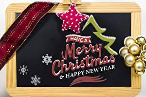 Картинки Новый год Шар Английский Снежинки Звездочки